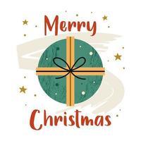vrolijk kerstcadeau vector