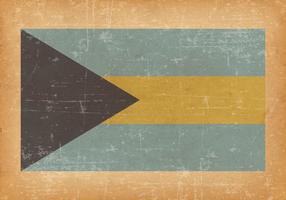 Vlag van de Bahamas Op Oude Grungeachtergrond vector