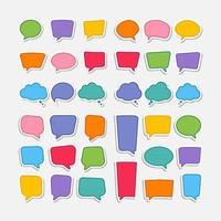 kleurrijke toespraak bubble vormen instellen vector