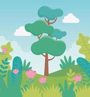cartoon landschap achtergrond vector
