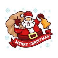 Kerstman met zak geschenken