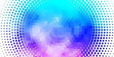 lichtroze en blauw sjabloon met vierkanten.