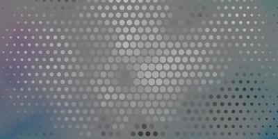 grijs, roze en blauw patroon met cirkels.