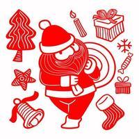hand getrokken kerstman