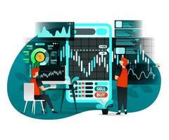 illustratie van de beursactiviteiten
