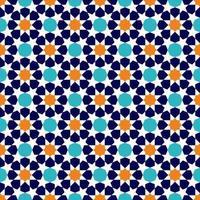 traditioneel moslim ornamentpatroon vector