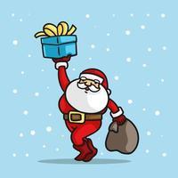 kerstman met hardlopen