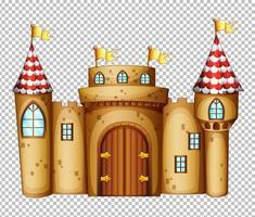 kasteel in sprookje op transparante achtergrond vector
