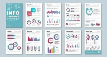 infographic brochures, ontwerpsjabloon voor gegevensvisualisatie