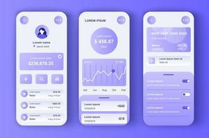 online bankieren, unieke neomorfe ontwerpkit