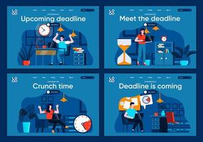 deadline komt eraan, platte bestemmingspagina's ingesteld