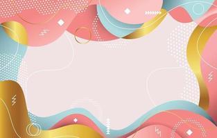 zacht gekleurde platte abstracte Memphis achtergrond