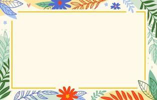 achtergrond met bloemenelementengrens vector