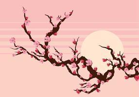Peach Blossom Branch Gratis Vector