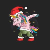 eenhoorn met grafische kerstmuts