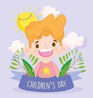 gelukkige kinderdagviering vector