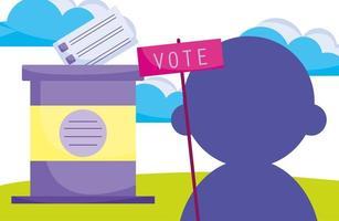 politieke campagne voor verkiezingen
