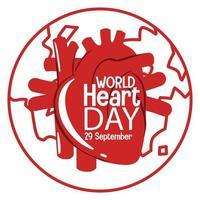 geïsoleerde wereld hart dag logo