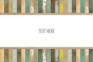 langzaam verdwenen houten plankframe met exemplaarruimte