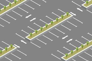 lege parkeerplaats isometrisch ontwerp