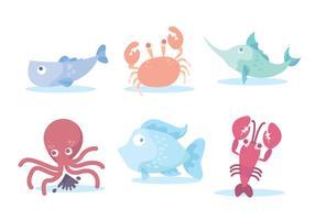 Kleurrijke Seafood Vector