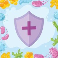schildbescherming bij uitbraak van coronavirus vector