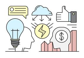 Linear Startup Vector illustratie in minimalistische stijl