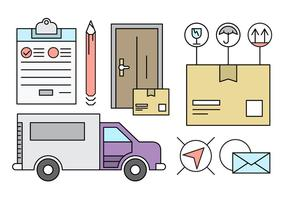 Gratis Linear Delivery Icons vector