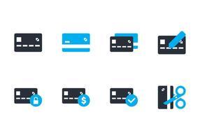 Credit Card Flat Icoon vector
