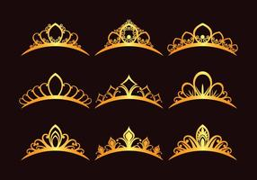 Set van prinses Tiaras vector