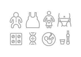 Moeder en baby pictogrammen vector