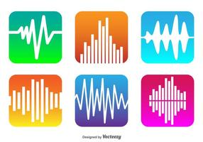Vector Sound Bars Icons