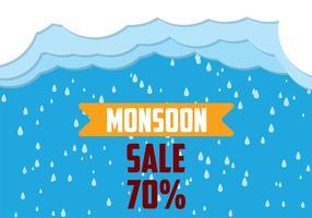Monsoon Achtergrond Vector