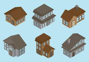 Gratis Chalet Icons Vector