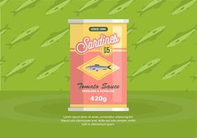 sardine Achtergrond vector