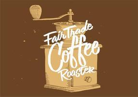 Fair Trade Koffiemolen Ontwerp vector