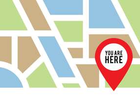 You Are Here Pin Sign vector