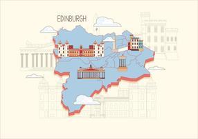 Edinburgh Kaart Vector