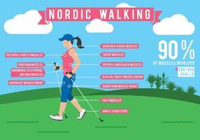 Nordic Walking Infographics Gegevens vector