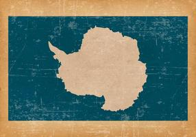 Vlag van Antarctica op Achtergrond Grunge