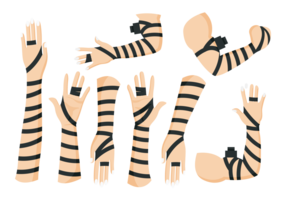 Black Leather Tefillin Hands vector