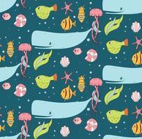 naadloze patroon met onderwaterscène