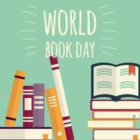 wereldboekendag, stapels boeken