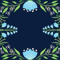 hand getekend florale achtergrond vector