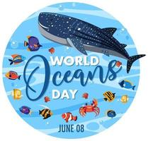 wereld oceanen dag pictogram