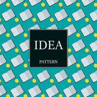 patroon van gloeilampen en boeken vector