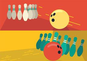 Bowlingbaanpen vector