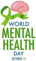 wereld geestelijke gezondheidsdag poster vector