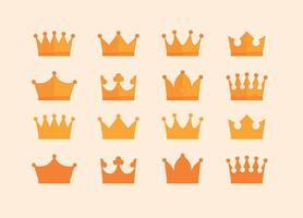 Crown Awards Icons Collection vector