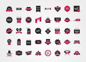 zwarte vrijdag verkoop icoon collectie